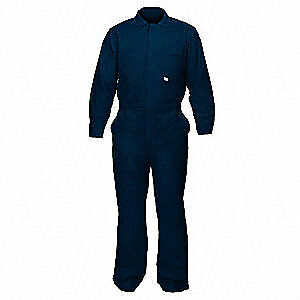 Chicago Protective Flame resistant Coverall navy Blue l 605 ind n L Navy Blue