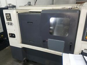 Used Hwacheon Hitech 200a Cnc Turning Center Lathe Live Tool Fanuc Tailstock 06
