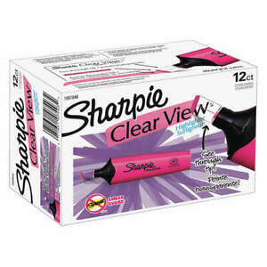 Sharpie Highlighter pink chisel wide pk12 1897848