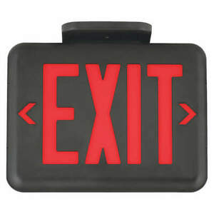 Hubbell Lighting Dual lite Exit Sign 1 42w led red Eveurb