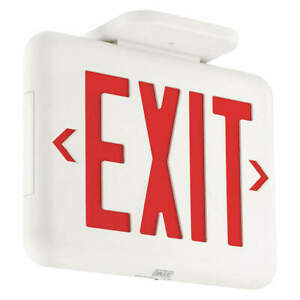 Hubbell Lighting Dual lite Exit Sign 1 42w 120 277v Eveurw