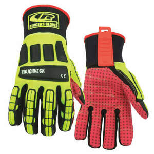 Ringers Gloves Glove impact Resistant s hi vis pr 267 08 High Visibility Green