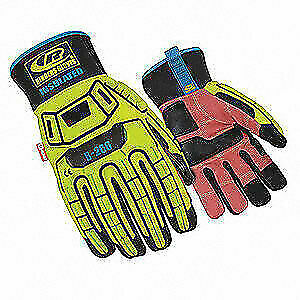 Ringers Glov Glove impact Resistant 2xl hi vis pr 266 12 High Visibility Green