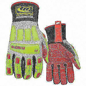 Rin Glove impact Resistant kevloc l hivis pr 298 10 High Visibility Green Red