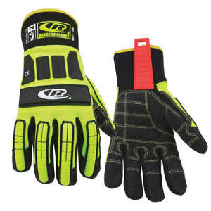 Ringers Glove impact Resistant kevloc l hivis pr 297 10 High Visibility Green