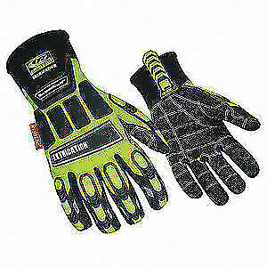 Ringers Glove impact Resistant kevloc m hivis pr 337 09 High Visibility Green