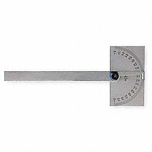 Mitutoyo Steel Protractor rectangular 6 In non grad 968 201