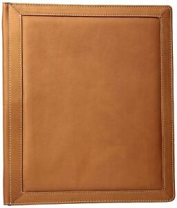 Piel Leather Three ring Binder Sa Saddle