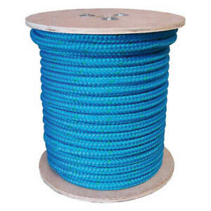 Grainger App Rigging Line Rope 1 2 In X 150 Ft double 20tl65 Blue green Tracer