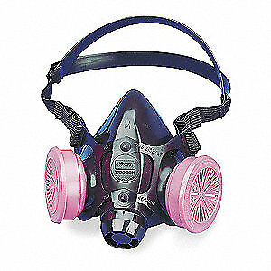 Honeywell North Half Mask Respirator threaded m 7780p100m Black