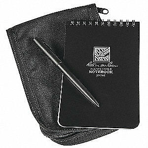 Rite In The Rain Notebook Kit 50 Sheets black Cover 746b kit