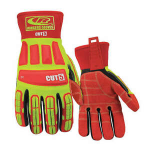 Ringers G Cut Resistant Gloves m ylw red pr 299 09 High Visibility Yellow Red