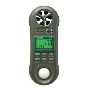 Extech Anemometer With Humidity 80 To 5910 Fpm 45170
