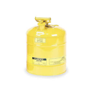 Justrite Type I Safety Can 5 Gal ylw 16 7 8in H 7150200