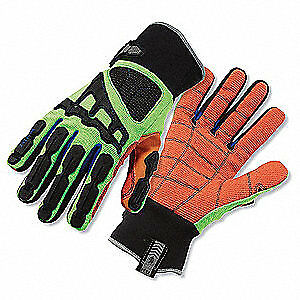 Erg Cut Resistant Gloves 2xl black lime pr 925cpwp Black High Visibility Lime