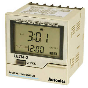 Autonics Lcd Digital Timer weekly yearly Timer Le7m 2