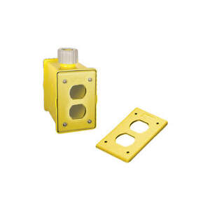 Hubbell Wiring Device Portable Outlet Box 1gang 1inlet valox Hblpob1dy Yellow