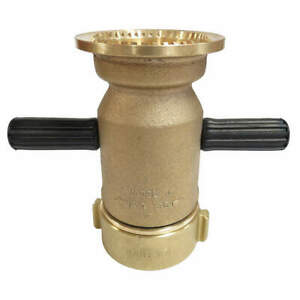 Elkhart Brass Industrial Fire Hose Nozzle 2 1 2 In J
