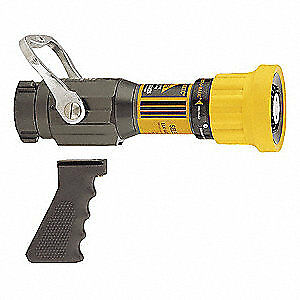 Elkhart Brass Fire Hose Nozzle 1 1 2 In yellow Sm 20fg
