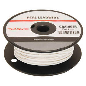 Tempco High Temp Lead Wire 22 Ga white Ldwr 1075