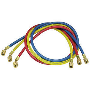 Yellow Jacket Manifold Hose Set 60 In red yellow blue 21985 Red Yellow Blue
