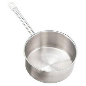Crestware Stainless Steel Sauce Pan W cover 7 5 8qt 10 1 2 In ss Sssau7