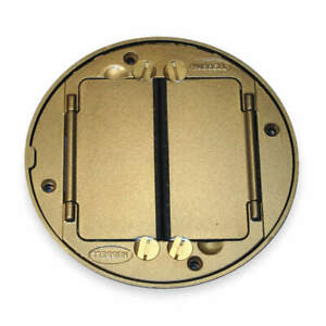 Hubbell Wiring Device Cast Aluminum Floor Box Cover Tile Flange brass S1tfcbrs