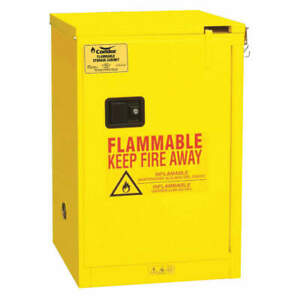 Condor Steel Flammable Liquid Safety Cabinet 23 3 8 45ae83 Yellow