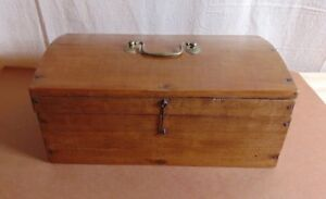 Expertly Made 19th Century Unpainted Wooden Document Box Possibly British