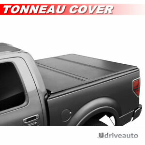 96in Bed Lock Tri Fold Hard Solid Tonneau Cover For 2009 2018 Ford F 150