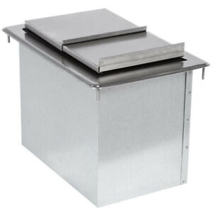 Advance Tabco D 12 ibl Stainless Steel Drop in Ice Bin 12 X 18 Advance Tabco