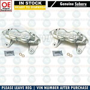 For Subaru Impreza 2 0 2 5 Wrx Sti Front Genuine Brake Calipers 4 Pot Pair