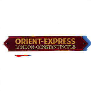 Orient Express Train Sign Hand Painted Vintage Style