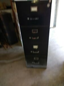 Packwood 4 Drawer Black Legal Size Vertical File Cabinet