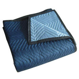Grainger A Cotton poly Woven Quilted Moving Pad l72xw80in blue pk12 2nkt3 Blue