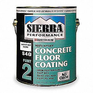 Rust oleum S40 Epoxy Floor Coating safety Red 1 Gal 208557 Safety Red