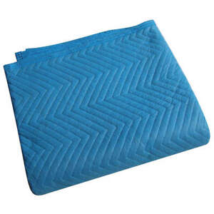 Grainger A Cotton poly Woven Quilted Moving Pad l72xw80in blue pk12 2nkr9 Blue