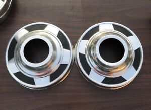 70s 80s Chevy 1 2 Ton Pickup Truck 10 3 4 Wheel Dog Dish Hubcaps Chevrolet Pair