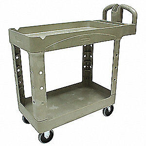 Rubbermaid Utility Cart 750 Lb Load Cap Fg454600beig