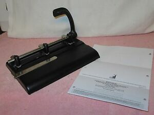 Vintage Heavy Master Products 3 25 Series Adjustable 3 hole Paper Punch