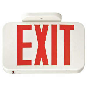 Lithonia Lighting Exit Sign 3 20w red 2 Faces Exr