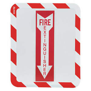 Tarifold Plastic Sign Holder magntc fire Extinguisher pk2 P194943fe Red white