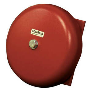 Wheelock Bell 24vac red 10 In H Cn121064 Red