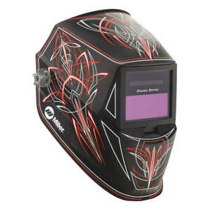 Miller Electri Welding Helmet auto darkening Type nylon 271349 Black red white