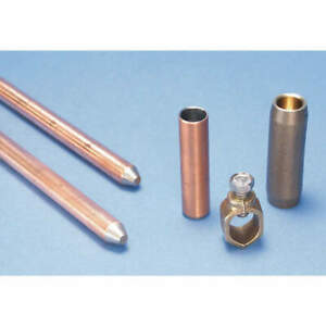 Nvent Erico Copper Bonded Steel Ground Rod Kit 5 8 In 4 Ft L Cge5cp