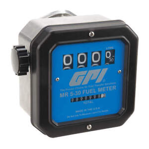 Gpi Flowmeter mechanical 1 In 5 To 30 Gpm Mr 5 30 G8n