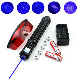 Wby3 a High Power 450nm Blue Laser Pointer Burning Visible Beam Torch Flashlight