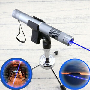 Powerful Lazer Pointer 450nm Focus Visible Blue Beam Laser Pointer With 5 Caps