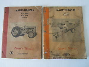 Vintage Massey Ferguson Mf35 Special Deluxe And No 10 Baler Owner s Manual