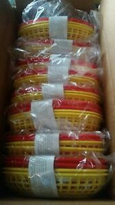 Set 36 Lot Ekco Plastic Restaurant Lunch Baskets Snack Fast Food Red Yellow
